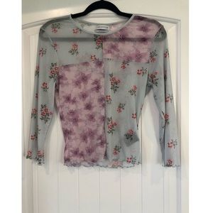 Urban Outfitters Sheer Patchwork Top